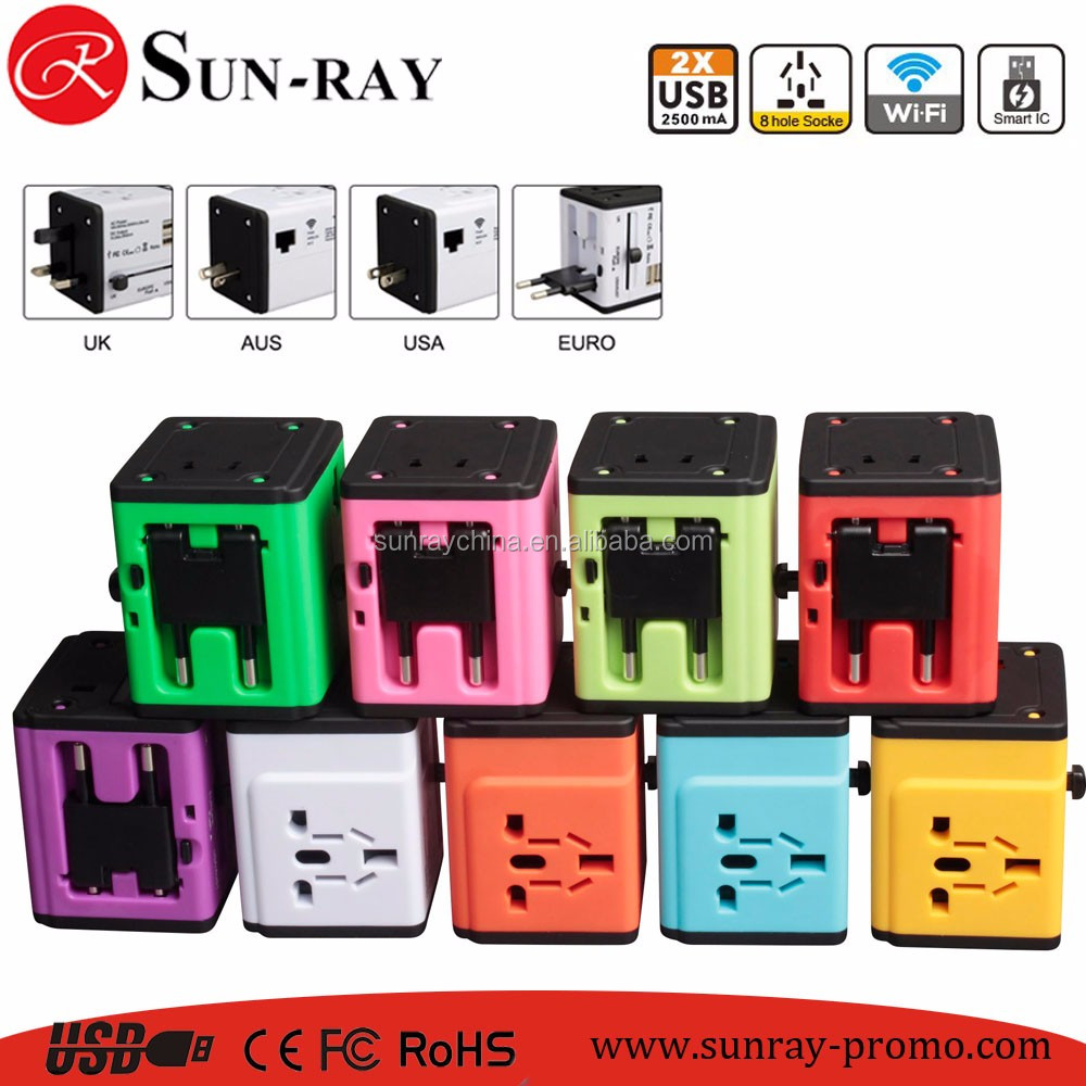 2017 new product wifi travel adapter eu uk us au converter plugs promotive souvenir gift set
