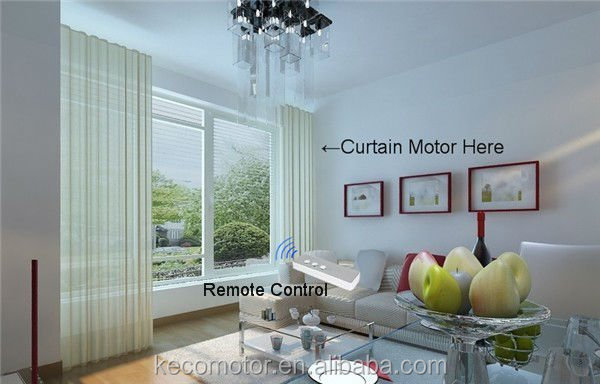 KECO Electric curtain, motorized curtain, automatic curtain system for hotel curtain and home curtain automation