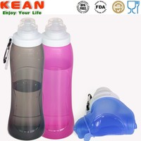Convenient Soft BPA Silicone Water Bottle Container