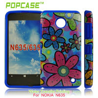 Soft Silicone with hard case cover for nokia lumia 630 635