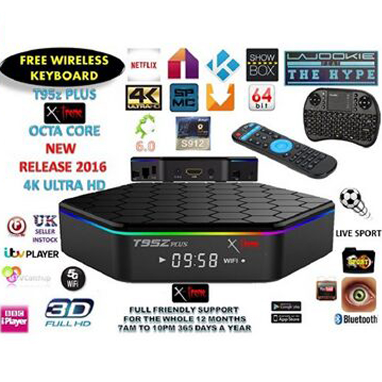 Professional S912 kodi 17.0 T95Z PLUS set top box case