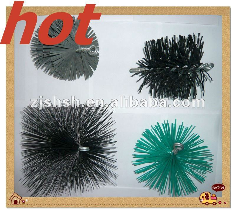 Round and Oval Chimney Cleaning Brushes