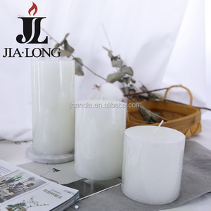 Extra large pillar candles white color pillar shape 10cm paraffin wax pillar candle