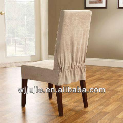 Nouveau design courtes chaise de salle manger couverture for Housse de chaise en cuir