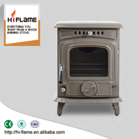 Cast Iron Material and Enamel Wood Stoves Type Wood Burning Fireplace Wholesaler from China HF217E Caesious