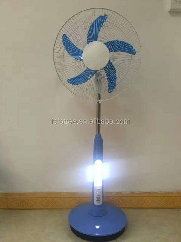 16'' led solar fan with battery AC DC lahore stand fan in pakistan