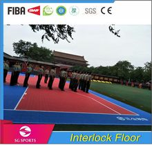 suspended pp flooring, removable indoor/outdoor flooring for sports court