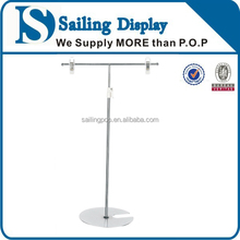 Metal tabletop pop display stand for poster information display