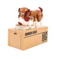 New arrival Choken-Bako Plastic Dog Shape Money box eating dog money bank Piggy Bank animated dog toys