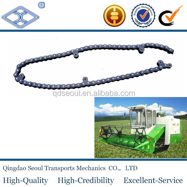 ISO standard pitch 12.70 conveyor steel agricultural rice harvester 415 chain