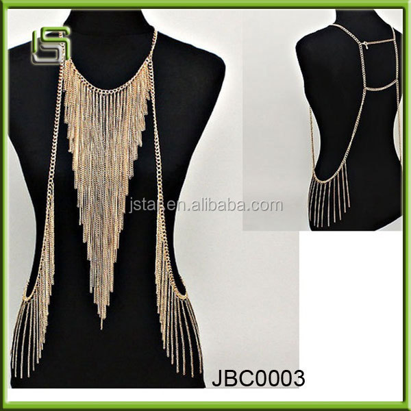 Top selling body jewelry full body chain newest body necklace