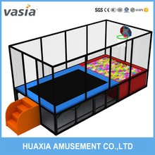 New Design rectangular trampoline with safety nets
