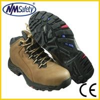 NMSAFETY fashion Crazy Horse leather boots/Work boots/Safety Boots