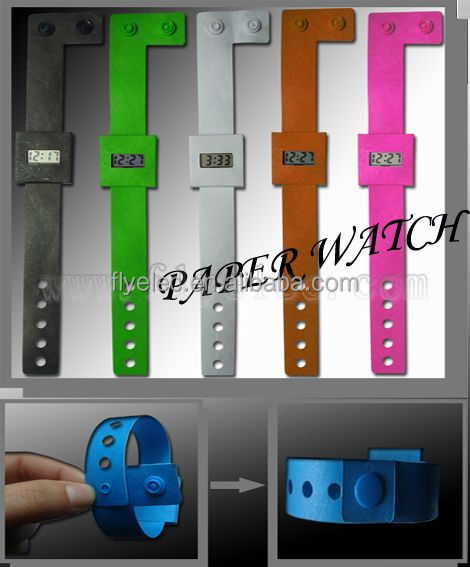 customized design Cheap DIY digital paper watch