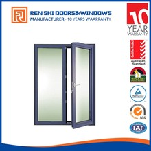Australia standard as2047 strong and durable thermal break Aluminum front waterproof Casement Doors with low sill