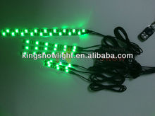 8pc green Color Flexible Strip Motorcycle 45 LED track Neon Accent Lighting Kit CE ROHS