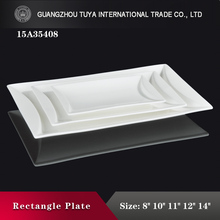 High quality porcelain rectangle plate special design long plate