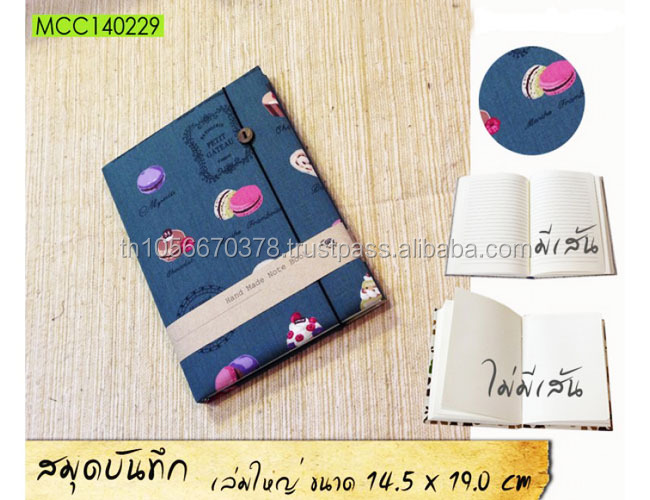 Note Book Pads Journal Diary Handmade Cake designs size 14.50 x19.0 cm Made in Thailand