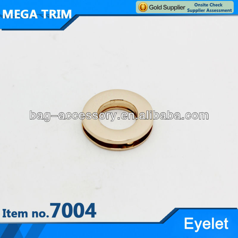 2cm light gold round high quality handbag eyelets