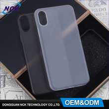Free sample wholesale ultra thin 0.4mm custom logo cell phone frosted full cover pp plastic case for iphone 8