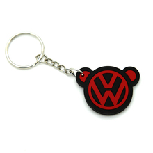 2017 shenzhen unusual handmade keyrings key accessories pvc silicone keyring for honda