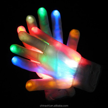 Finger Light Up LED Gloves multicolor LED glove