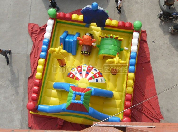 New inflatable bouncer castle Jumping Combo with super man and elephant