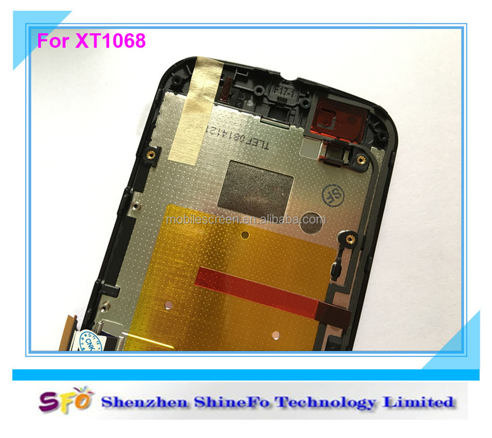 For Motorola Moto G2 XT1063 XT1068 XT1069 Full LCD Display Touch Screen Digitizer With Frame Assembly