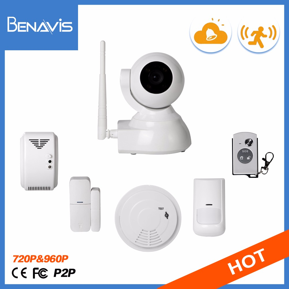 China Supplier CE Certification Support custom logo Home Door Ip Wifi Alarm System sell cctv camera