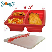 Home Storage Organization Collapsible Silicone Outdoor Lunch Box