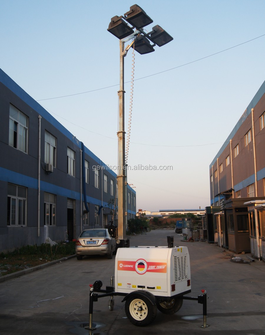 Mobile lighting tower model Diesel generator for mining outdoor work