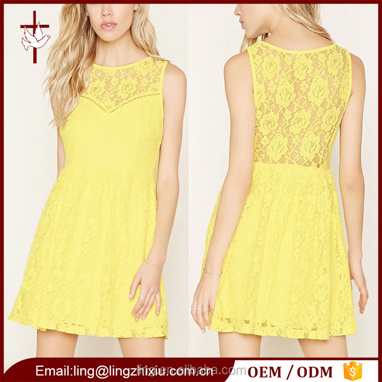 Ice skating dresses floral lace mini summer hand work lady fashion dress