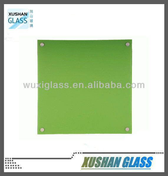 Smart memo board made of tempered glass