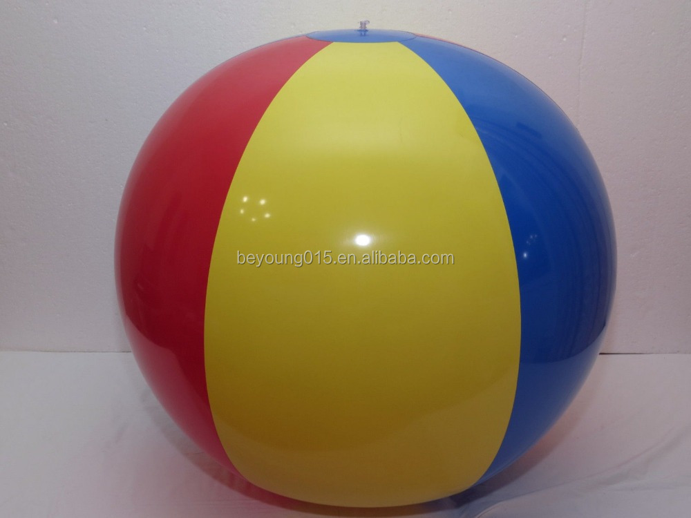 "48"" 3 color inflatable jumbo beach ball for promotion"