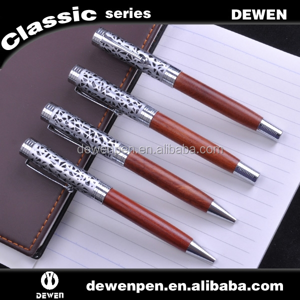 wooden new design style metal roller ball pen set for best cooperate gift