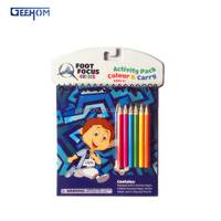 cheap promotional activity book with color pencils