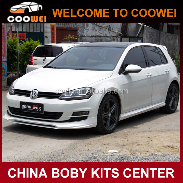 ABS Unpainted Ott style body kit for VW MK7 VII golf VII 7 2014(front lip, side skirts, rear diffuser)