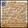 polished yellow pebble stone pattern for landscaping and garden decoration