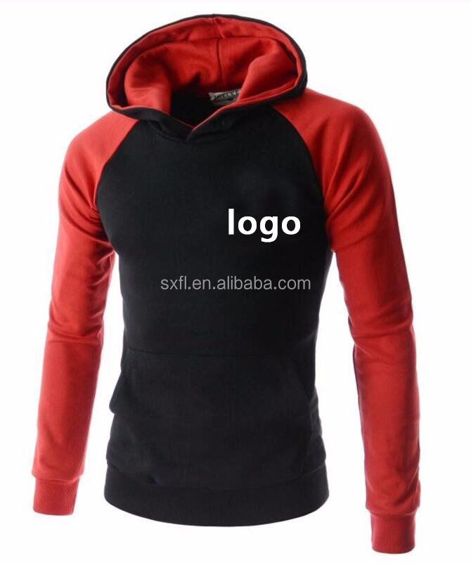 Pullover Supreme Hoodie Custom Plain red Sports Hoodie men