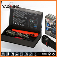 Tactical flash lights night hunting led torches with red traffic baton for gun