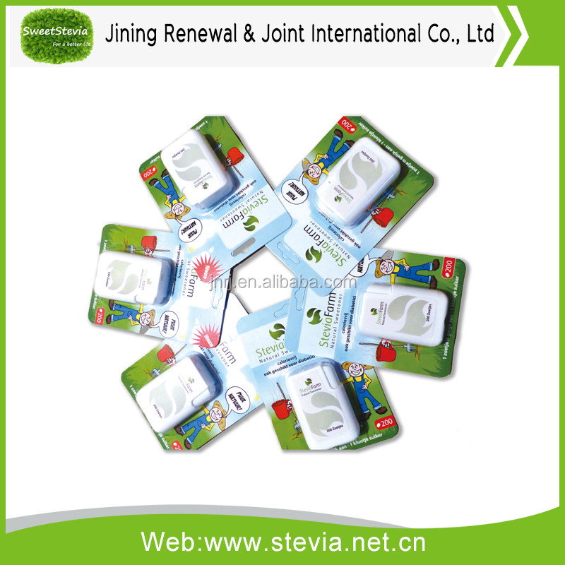Blister packed stevia tablet
