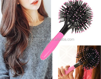3d bomb curl brush,Spherical Comb Japan Lucky Bomb Curl Brush Full Round Hot Curling Styling Brush