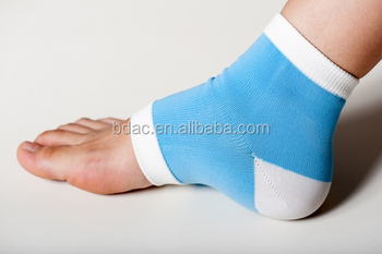 custom women sleeping plantar fasciitis compression moisturizing silicone gel foot heel socks for dry feet