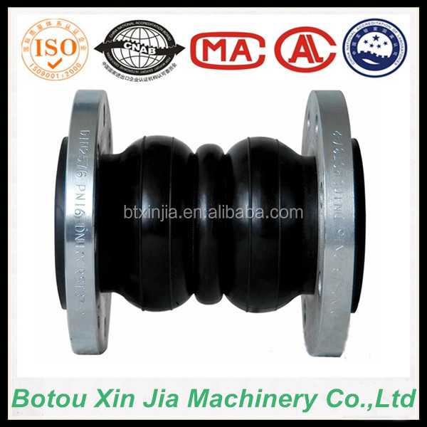 JGD-A double-sphere flanged bellows type rubber expansion joints