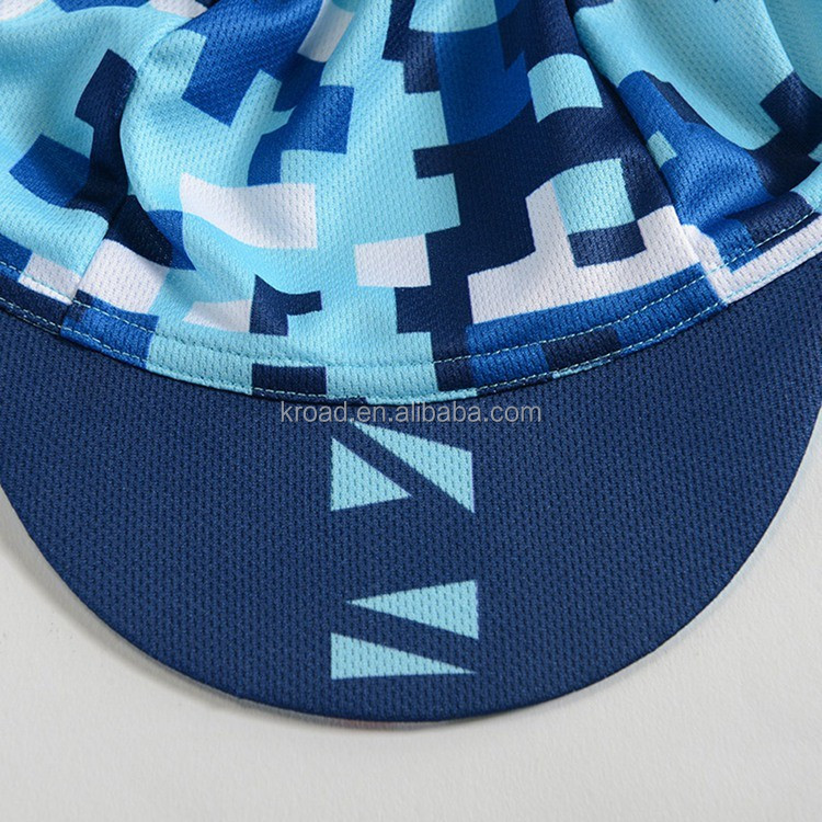 Latest custom design cycling cap factory, sublimation wholesale printing team bike cap