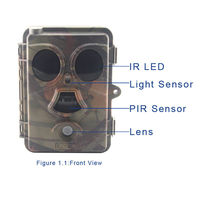 "2015 New Idea Night Vision Trail Camera No Flash In ""Camera + Video"" mode from China supplyer"