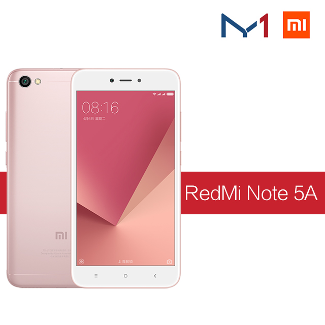 "Xiaomi /Redmi Note 5A Smart phone 3GB RAM 32GB ROM Snapdragon 425 Quad Core 5.5"" Red mi Mobile Phone"