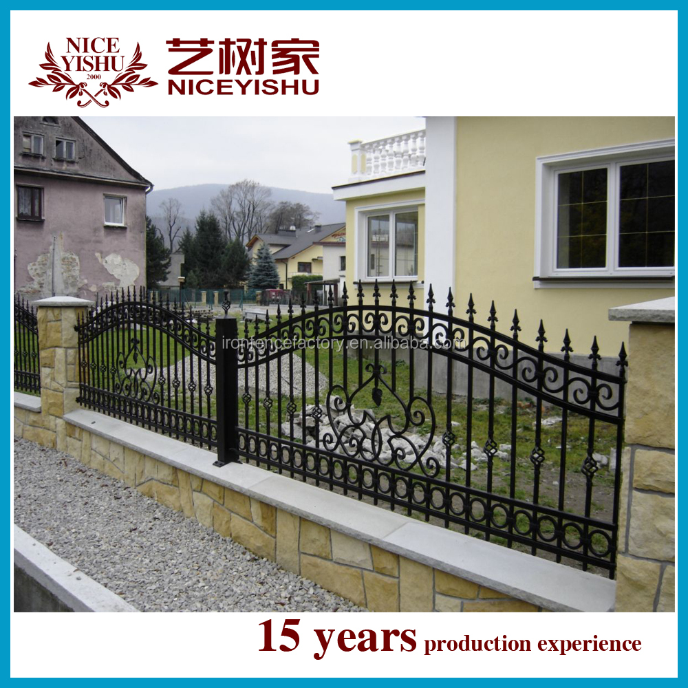 2016 new latest cheap wrought iron fence panels for Cloture fer forge pour piscine