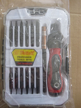 2014new ratchet Hand tools changeable bits screwdriver set