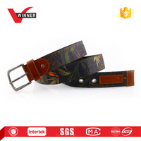 fashion design canvas belts with alloy buckle